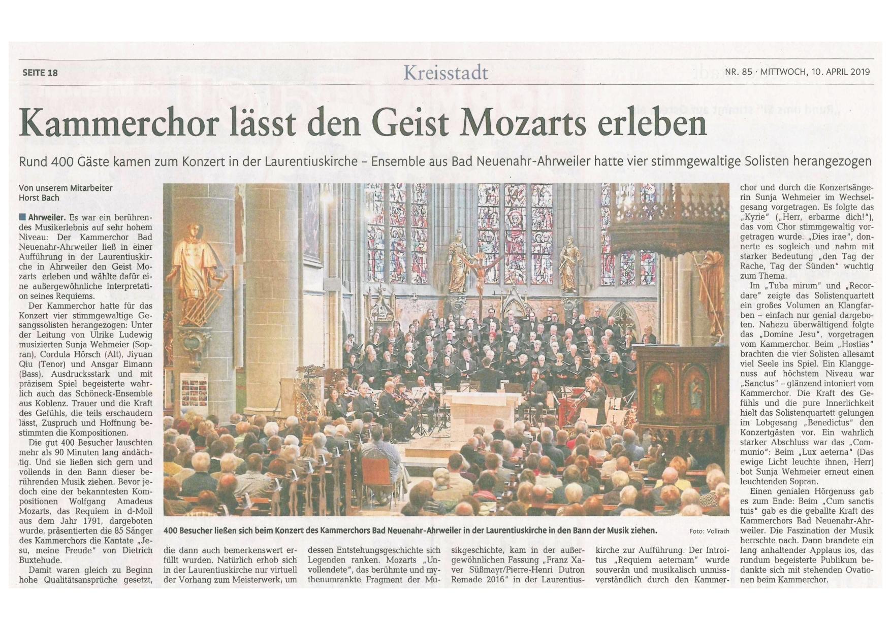 Rhein-Zeitung 10. April 2019