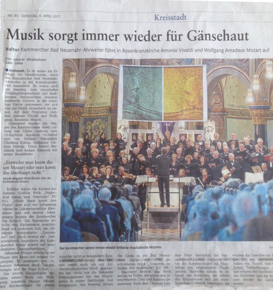 Rhein-Zeitung 4.April 2017