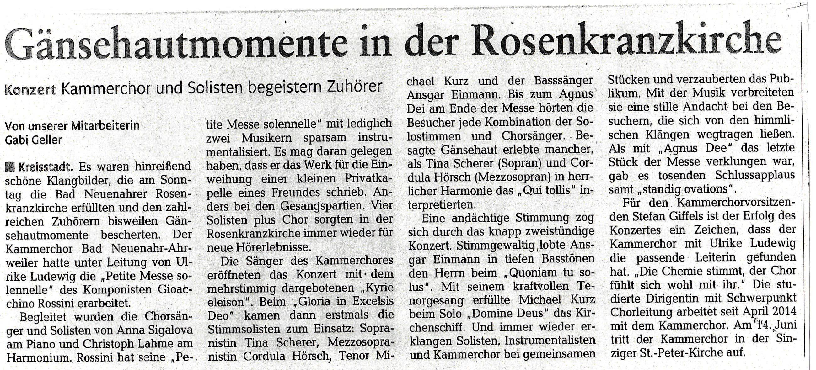 Rossini Konzert - Rhein-Zeitung