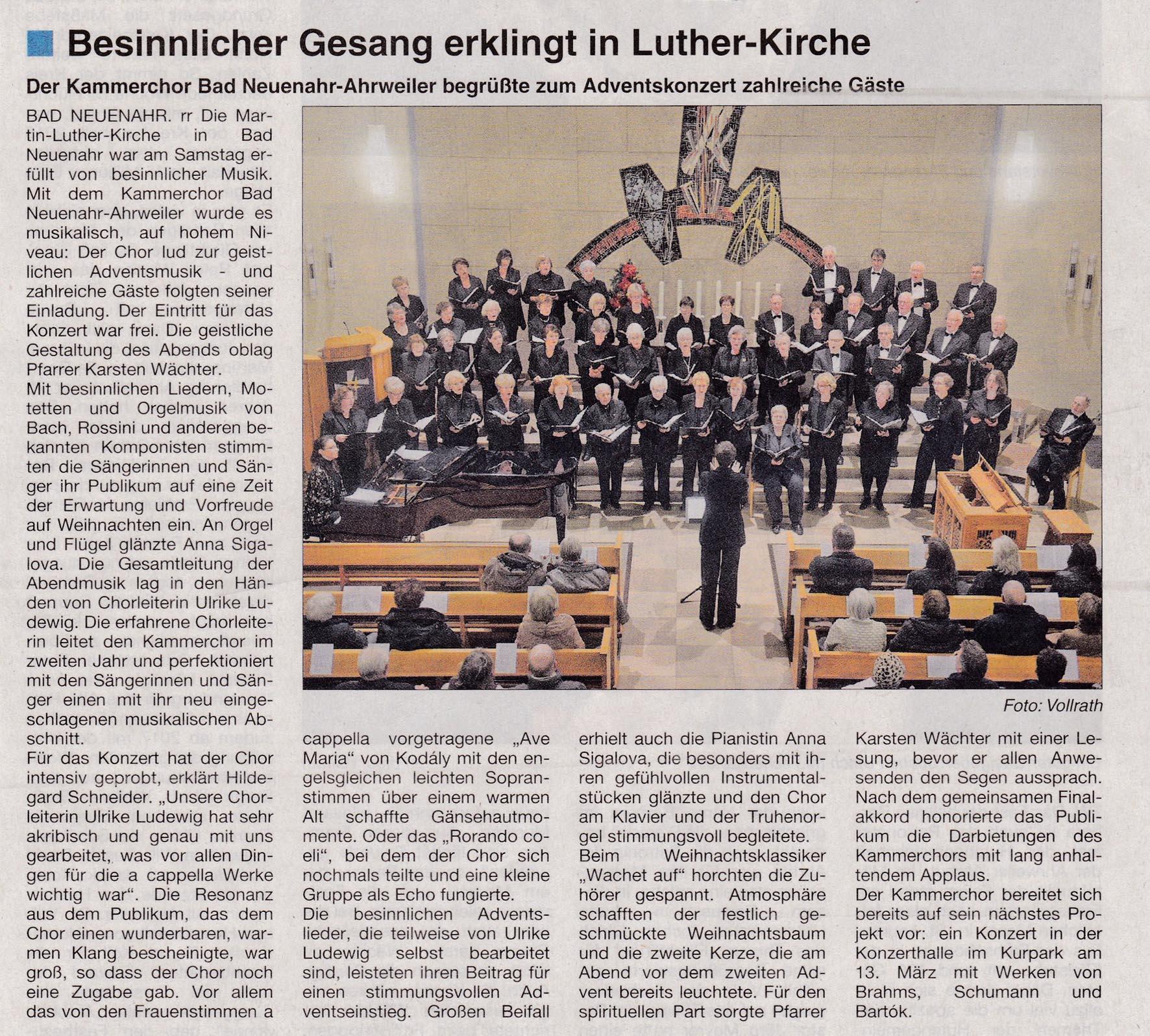 Stadtzeitung Bad Neuenahr 8.Dezember 2015
